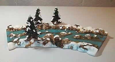 Dept 56 Snow Village Mill Creek Curved Section #52634 NO ISSUE IOB