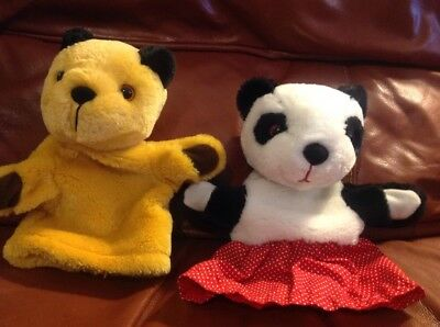 Set Of 2 X Sooty And Sweep Hand Puppets