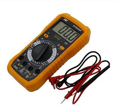 LCD Digital Multimeter with Voltmeter, Ohmmeter and Ammeter (New) (Free Postage)