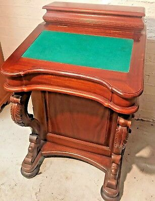 Mahogany Victorian Style Davenport Fitted With Drawers And Upper Compartment