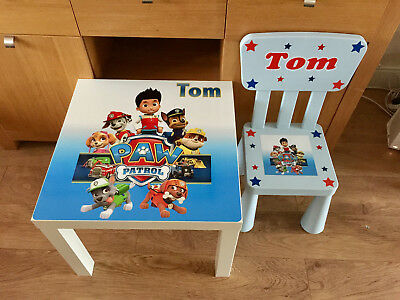 Personalised Kids Table and Chair set