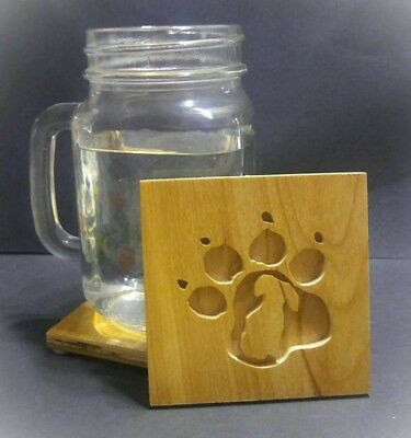 Daschund Coasters (Set of 4), Wiener Dog, Wood Coasters, Dog, Dog Lover