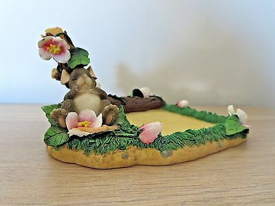 2001 Charming Tails Office Gifts Note Pad Holder Mackenzie Mouse Vguc