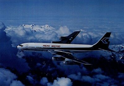 Pacific Western Airlines Boeing 707 Airline Issue Postcard