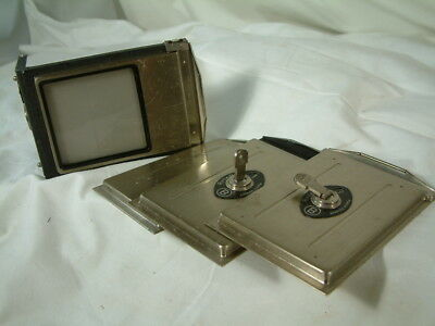 Rolleiflex F&H parts BACK AND 3 PLATES