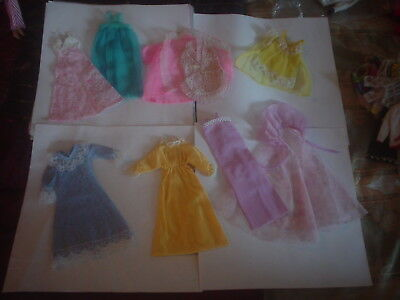 Vintage Barbie Lingerie Robe And Gown Lot Factory Doll Clothes Pretty Sleepwear