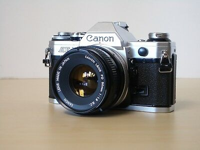 Canon AE-1 35mm SLR Film Camera with FD 50 mm lens