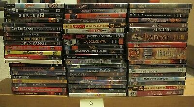 Collection Lot of 50+ ASSORTED  DVDs  Movies