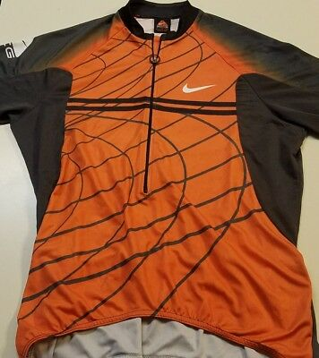4ac67f9d5 RARE NIKE 90 s ACG CYCLING SHIRT LARGE JERSEY ALL CONDITIONS GEAR VINTAGE  ORANGE