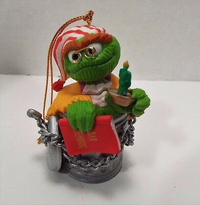 Sesame Street Collectible Christmas Tree Ornament OSCAR the Grouch BAH HUMBUG