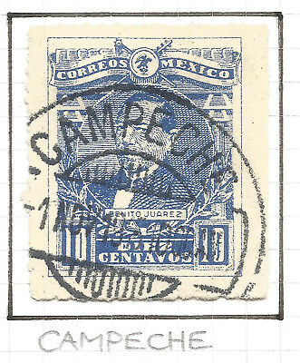 MEXICO. POSTMARK CAMPECHE. 10c USED.