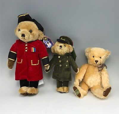 Collection 3 English Merrythought Mohair Teddy Bears, Exclusive Herrods