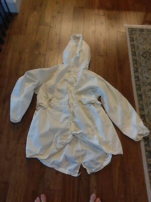US Military White Arctic Snow Camo Field Parka Medium Tennier