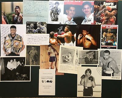 Lot 20+ SIGNED BOXING COLLECTION Photos, Letters, Programs+ MAXIM, McCALL, KING+