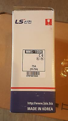 LSIS MMS-100H 75A Manual Motor Starter, NEW in Box!!