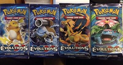 4 x Pokemon XY Evolutions Booster Packs New Sealed TCG  each art Charizard....