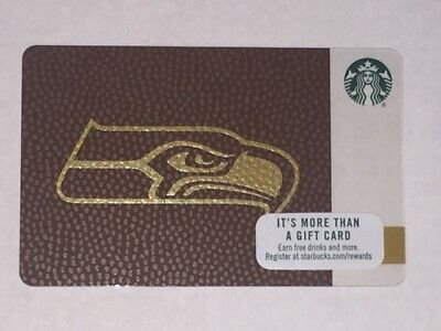 Starbucks Card 2017 SEATTLE SEAHAWKS Ltd Edn w/ NFL Hologram - NEW Unused MINT