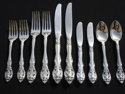 Gorham Sterling Silver La Scala Two 5 Piece Place Settings 10 pc Excellent Cond