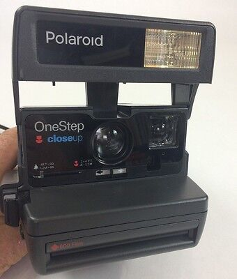 polaroid one step close up 600 film camera tested clean