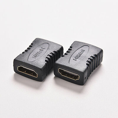 2PC HDMI Female to Female F/F Coupler Extender Adapter Connector for HDTV 1080P