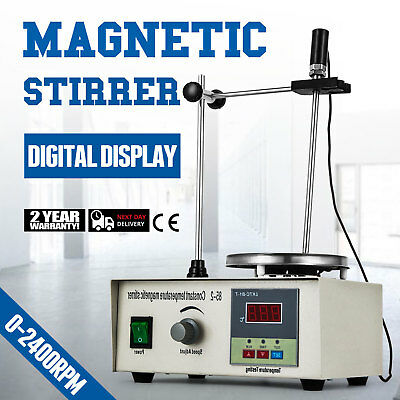85-2 Magnetic Stirrer With Heating Plate Digital Hotplate Mixer 250W Stir Bar