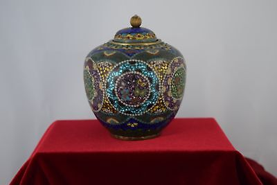 Circa 1930 Japanese Cloissonne Enamel Tea Caddy