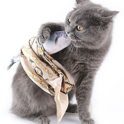 Lovely Pet Cat Toy 30CM Kitten Chewing Stuffed Fish Mint Pet Interactive Product