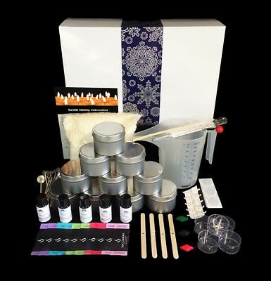 Xmas Soy Candle Making Kit -Everything you need with POURING JUG, Tins & Labels