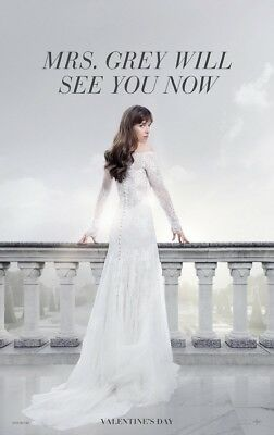 FIFTY SHADES FREED advance great original 27x40 D/S movie poster (s01)