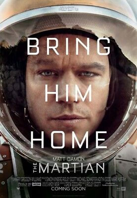 THE MARTIAN great original 27x40 D/S movie poster LAST ONE (s01-20)