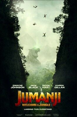 JUMANJI: WELCOME TO THE JUNGLE great original D/S 27x40 movie poster (s01)