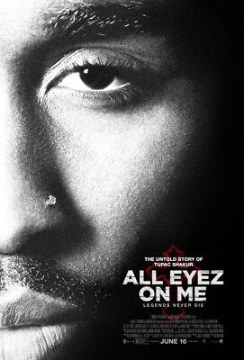 ALL EYEZ ON ME great ORIGINAL ds 27x40 movie poster TUPAC SHAKUR (s01)
