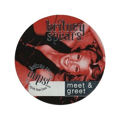 Britney Spears authentic Meet & Greet 2000 tour Backstage Pass