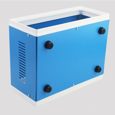 "New Blue Metal Enclosure Project Case DIY Junction Box ED 9.8"" x 7.5"" x 4.3"" US"
