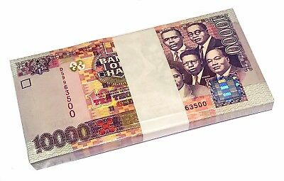 GHANA 10000 10,000 CEDIS 2003 P 35b UNC BUNDLE OF (100 NOTES)