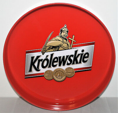 Krolewskie Bier Beer Polen Servier, Kellner Tablett Bar Kneipe Club rot NEU OVP