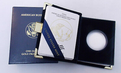 2006 W $50 1 oz American Gold Buffalo Proof Case Box COA No Coin