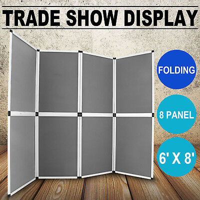 Folding Display Board 8 Panels Trade Show Advertising Exhibition Banner Stand