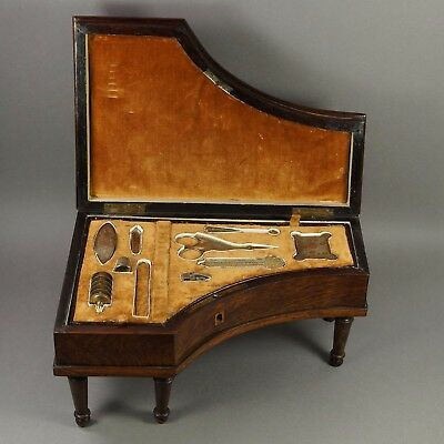 19th Century French Palais Royal Grand Piano Etui Necessaire Sewing Box Set