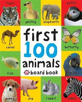 Children Books Early Learning Board Baby Toddlers Kids Gift First 100 Animals