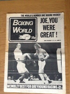 Boxing World - Joe Bugner - Joe Frazier - July 6, 1973