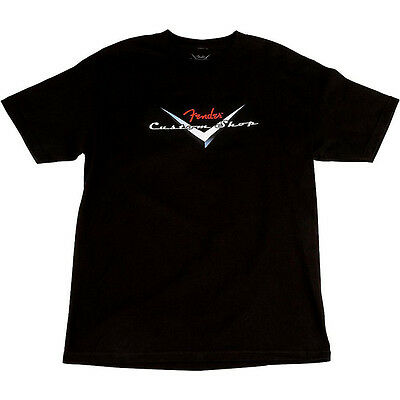 Fender Custom Shop Original Logo T-Shirt, Black, XXL