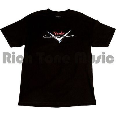 Fender Custom Shop Original Logo T-Shirt, Black, S