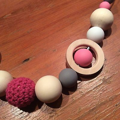 Sensory Teething Necklace, Parent & Bub Nursing, Natural, Quality Hand Made
