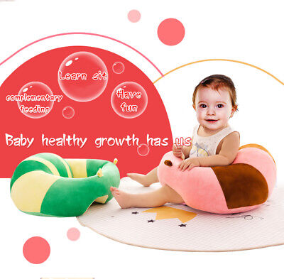 Cotton Baby Support Sofa Learn Sit Chair Cushion Plush Pillow Toys Gift US SHIP