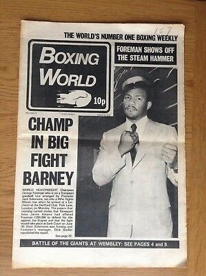 Boxing World - George Foreman - March 16, 1973