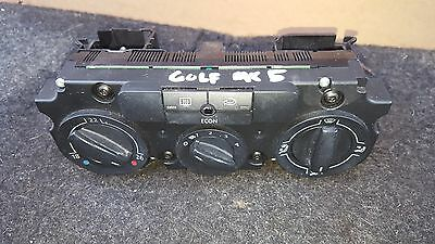 Vw Volkswagen Golf Mk5Ac Climate Heater Control Panel