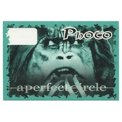 A Perfect Circle authentic Photo 2001 tour Backstage Pass