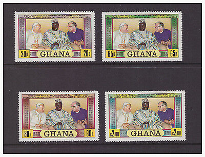 Ghana 1981 Religion  The 1st Anniversary of Papal Visit  mint MNH set stamps