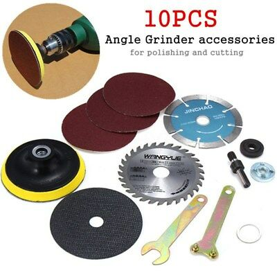 10pcs Angle Grinder Accessories Tool For Hand Drill Variable Polishing Cutting